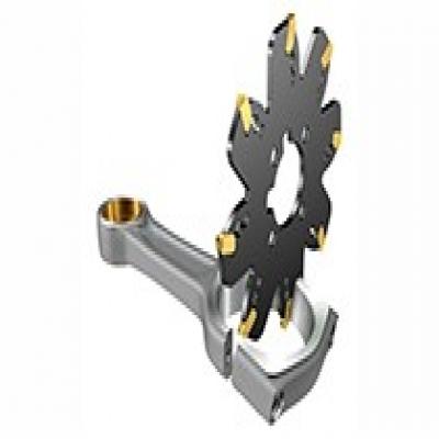 山特维克三面刃刀盘铣槽和切断加工